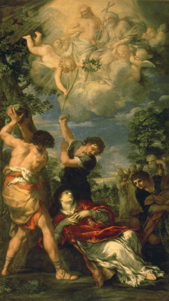 The Martyrdom of Saint Stephen 1660   Pietro da Cortona   oil painting