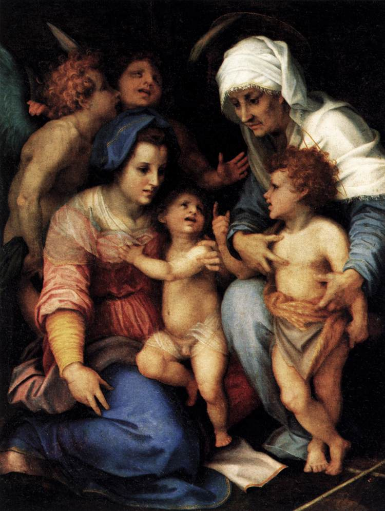 Madonna and Child with St Elisabeth