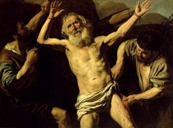 The Martyrdom of St Bartholomew   Valentin de Boulogne   oil painting