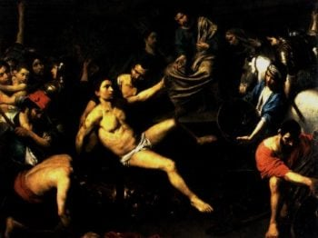 The Martyrdom of St Lawrence 1621 22 | Valentin de Boulogne | oil painting