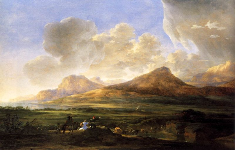 River Bank with Herdsmen 1650 | Jan Asselyn | oil painting