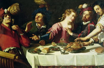 The Meal | Theodor Rombouts | oil painting