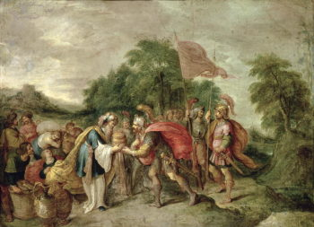The Meeting of Abraham and Melchizedek | Frans II Franken | oil painting