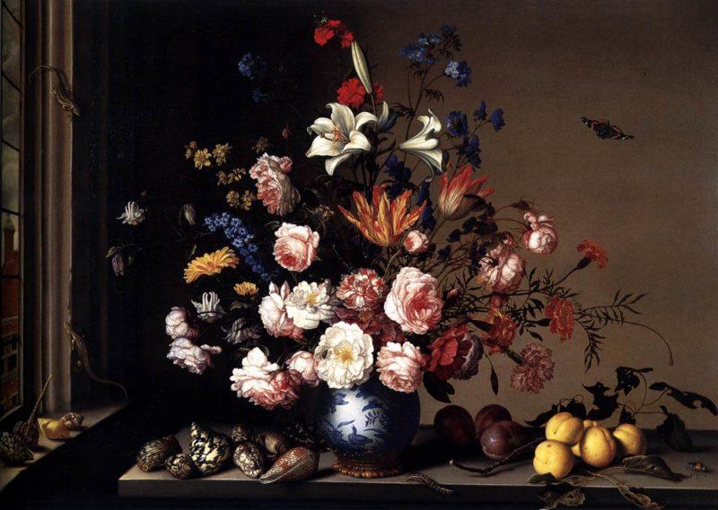 Vase of Flowers by a Window 1650-57 | Balthasar Van Der Ast | oil painting