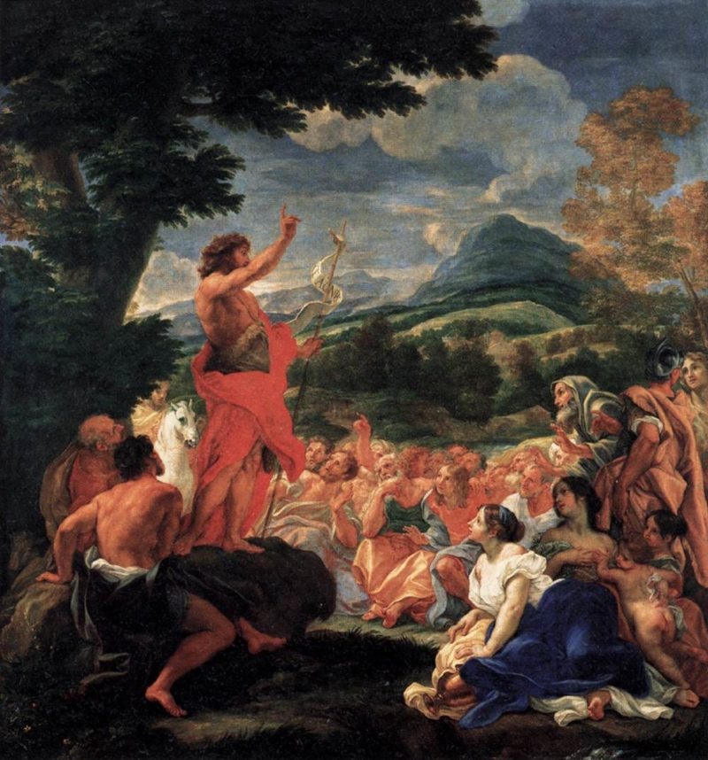 The Preaching of St John the Baptist 1690 | Baciccio | oil painting