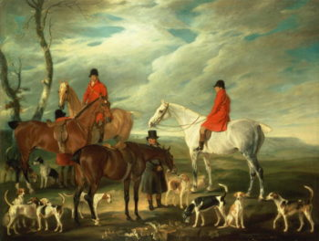 The Meet Melton Mowbray 1829 | John E Ferneley | oil painting