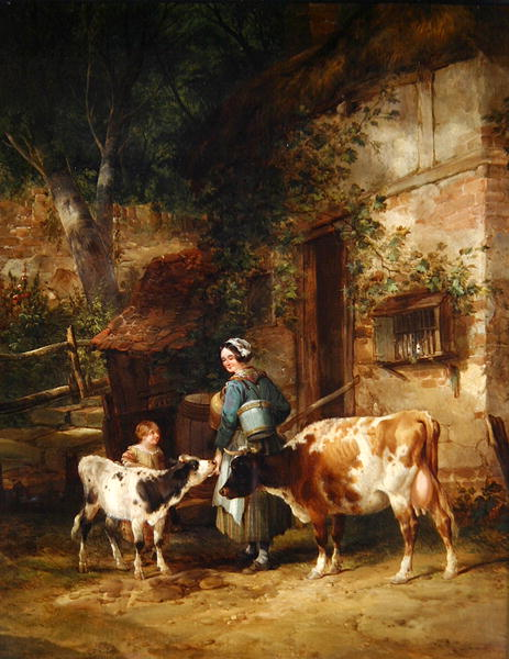 The Milkmaid | William Snr Shayer | oil painting