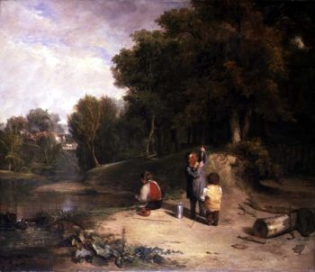 The Minnow Catchers | William Collins | oil painting