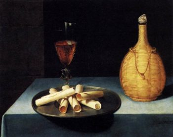 Still Life with Wafer Biscuits (Le Dessert de Gaufrettes) 1630s | Lubin Baugin | oil painting