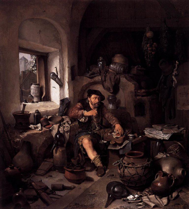 Alchemist 1663 | Cornelis Bega | oil painting
