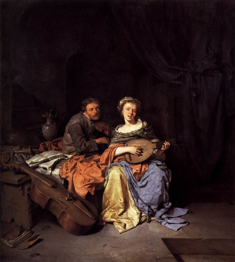 The Duet 1663 | Cornelis Bega | oil painting
