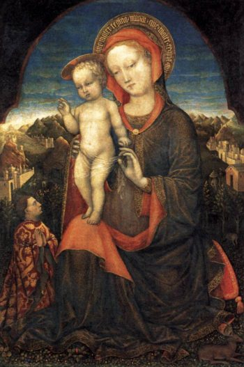 Madonna and Child Adored by Lionello d'Este 1450 | Jacopo Bellini | oil painting