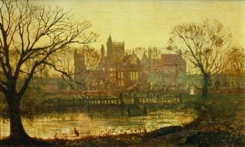 The Moated Grange | John Atkinson Grimshaw | oil painting
