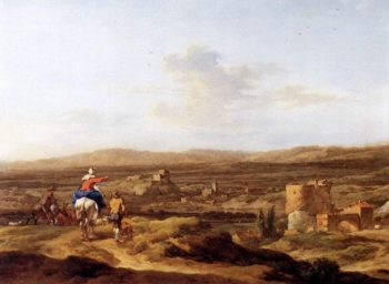 Italian Landscape with Mountain Plateau 1655 | Nicolaes Berchem | oil painting