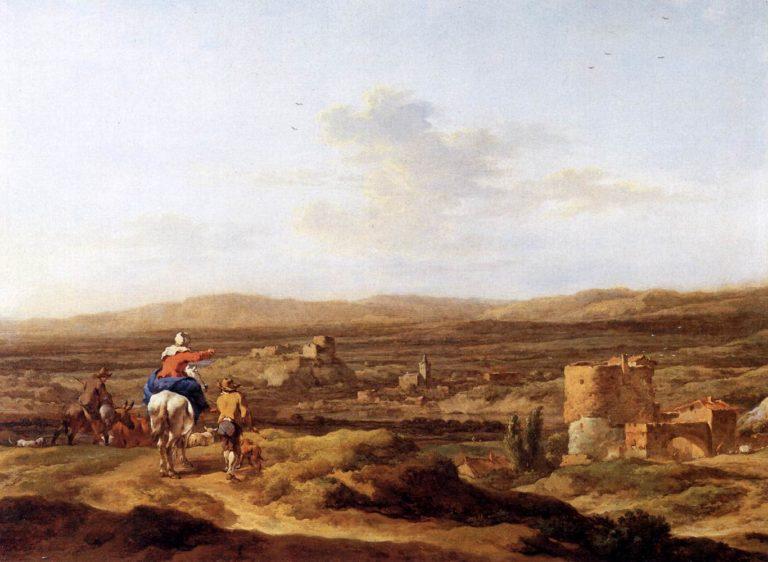 Italian Landscape with Mountain Plateau 1655 | Nicolaes Berchem | oil painting