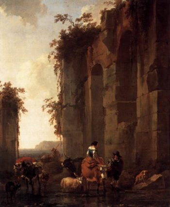 Ruins in Italy 1658 | Nicolaes Berchem | oil painting