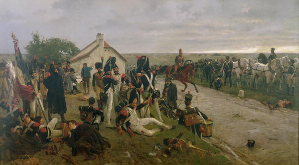 The Morning of The Battle of Waterloo the French Await Napoleon's Orders 1876 | Ernest Crofts | oil painting