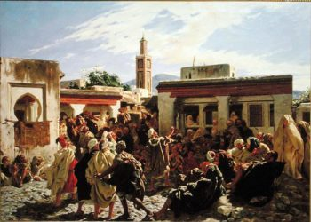 The Moroccan Storyteller 1877 | Alfred Dehodencq | oil painting