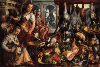 The Well Stocked Kitchen 1566 | Joachim Beuckelaer | oil painting