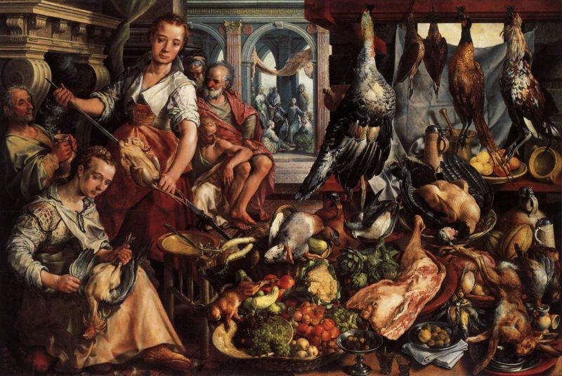 The Well Stocked Kitchen 1566 | Joachim Beuckelaer | oil painting