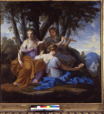 The Muses Clio Euterpe and Thalia 1652 55 | Eustache Le Sueur | oil painting