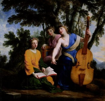 The Muses Melpomene Erato and Polymnia 1652 55 | Eustache Le Sueur | oil painting