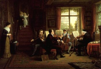 The Music Lesson | Frederick Daniel Hardy | oil painting