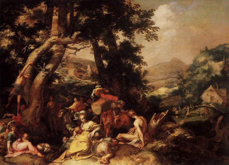 The Preaching of St John the Baptist 1595-1600 | Abraham Bloemaert | oil painting