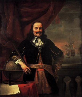 Portrait of Michiel Adriaansz de Ruyter 1667 | Ferdinand Bol | oil painting