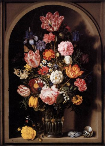 Bouquet of Flowers in a Vase 1618 | Ambrosius The Elder Bosschaert | oil painting