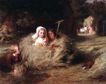 The Nestlings 1870 | George Bernard O'Neill | oil painting