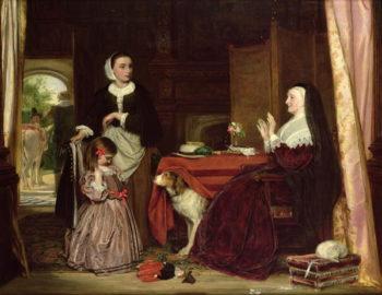 The New Dress | John Callcott Horsley | oil painting