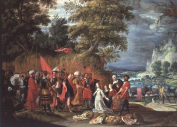 The Offering of Abigail   David the Elder Teniers   oil painting