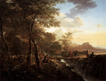 Italian Landscape with Draughtsman 1650 | Jan Both | oil painting