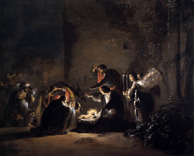 The Adoration of the Magi 1628-30 | Leonaert Bramer | oil painting