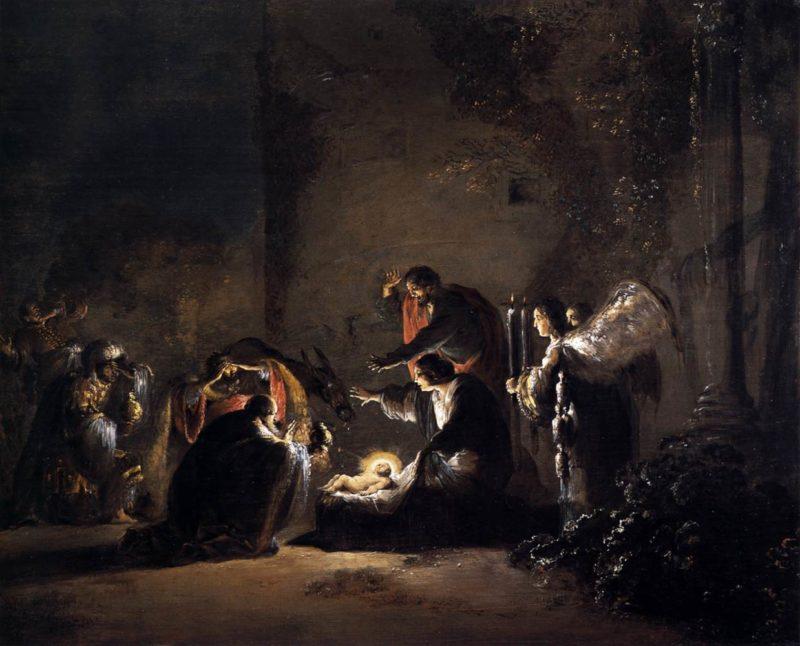 The Adoration of the Magi 1628-30   Leonaert Bramer   oil painting