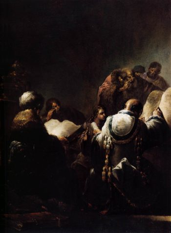 Christ among the Doctors 1640-45 | Leonaert Bramer | oil painting