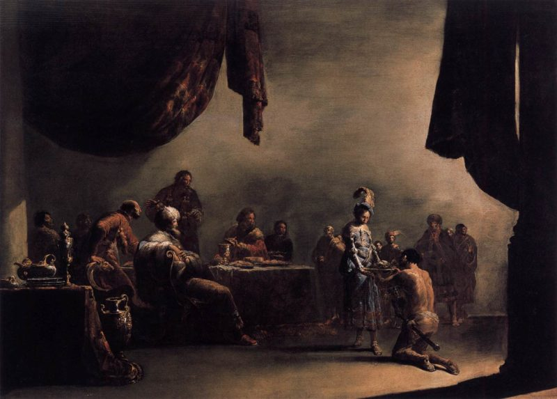 Salome Presented with the Head of St John the Baptist 1630s | Leonaert Bramer | oil painting