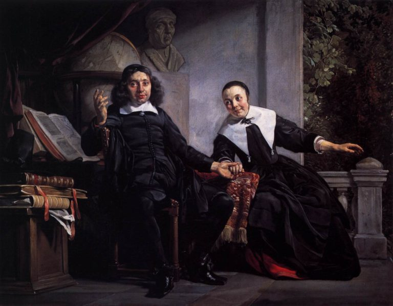 Haarlem Printer Abraham Casteleyn and His Wife Margarieta van Bancken 1663   Jan De Bray   oil painting