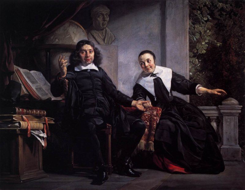 Haarlem Printer Abraham Casteleyn and His Wife Margarieta van Bancken 1663 | Jan De Bray | oil painting