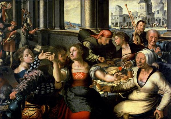 The Prodigal Son 1536   Jan Sanders van Hemessen   oil painting