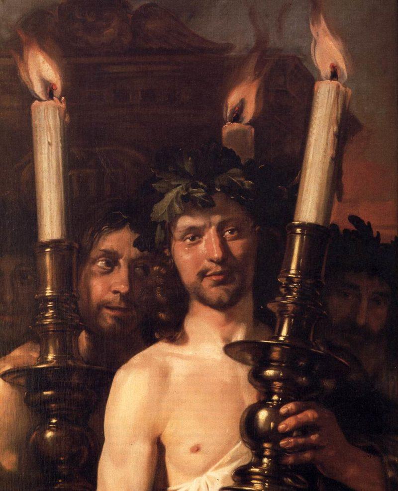 David Playing the Harp (detail) 1670   Jan De Bray   oil painting