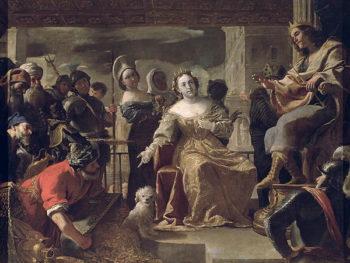 The Queen of Sheba before Solomon   Mattia Preti   oil painting