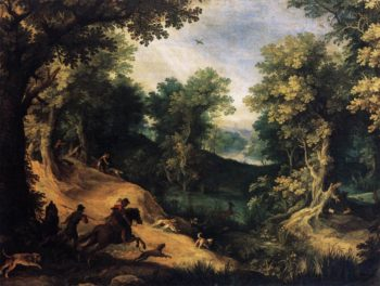 The Stag Hunt 1590-95 | Paul Bril | oil painting