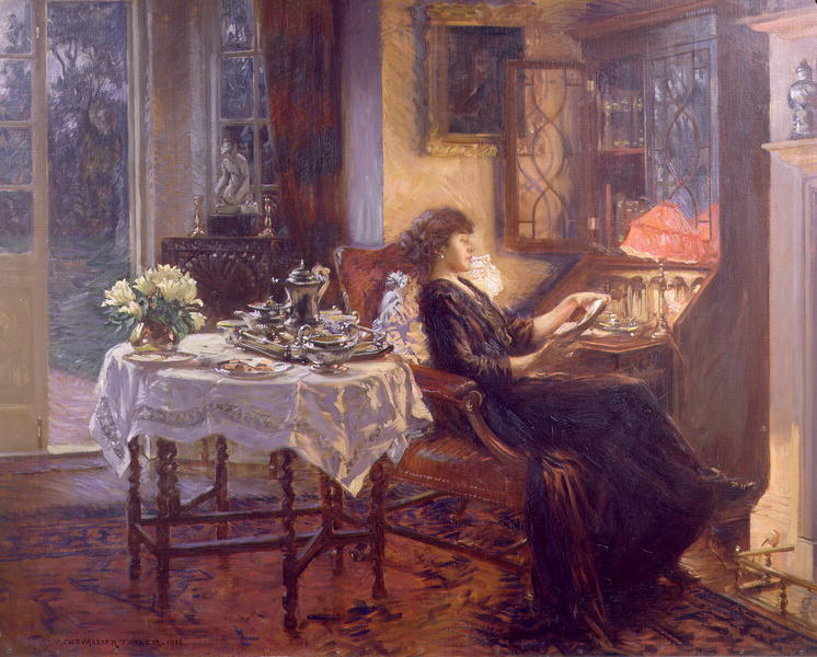 The Quiet Hour 1913 | Albert Chevallier Tayler | oil painting