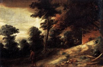 Twilight Landscape 1633-37 | Adriaen Brouwer | oil painting