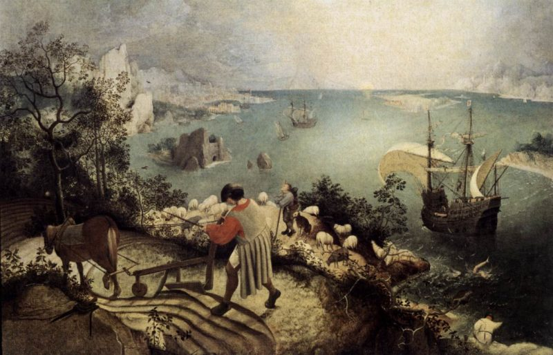 Landscape with the Fall of Icarus 1555 | Pieter The Elder Bruegel | oil painting