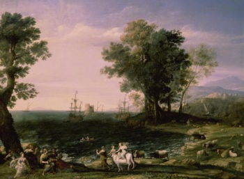 The Rape of Europa 1655 | Claude Lorrain | oil painting