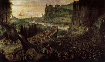 The Suicide of Saul 1562 | Pieter The Elder Bruegel | oil painting