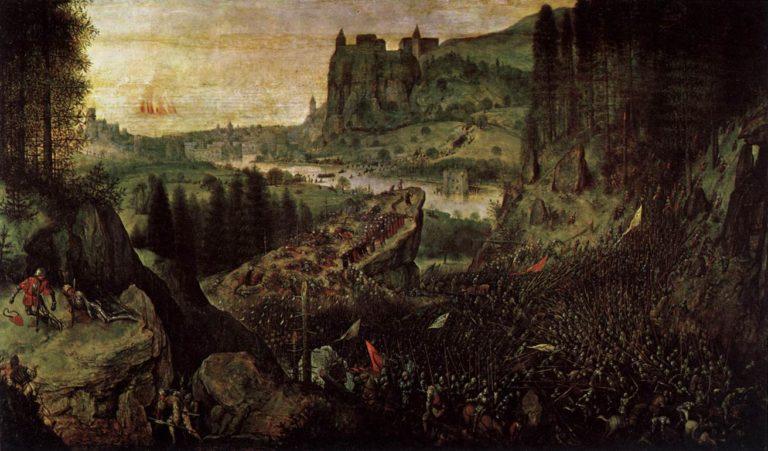 The Suicide of Saul 1562 | Pieter The Elder Bruegel | oil painting